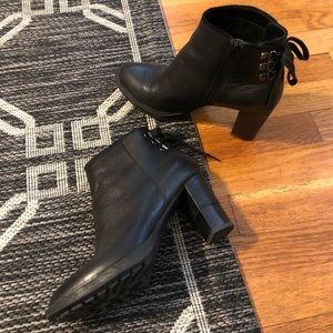 Aerosoles black tie-back bootie